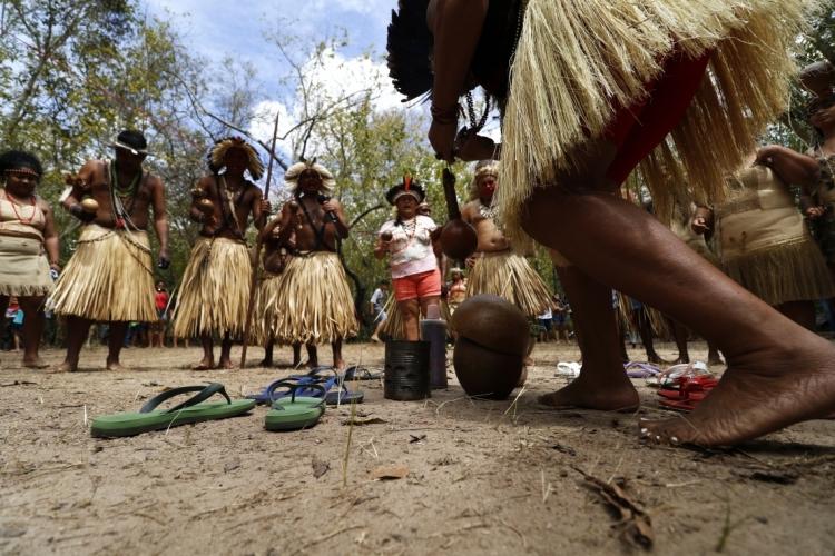 Tapebas em comemoração ao Dia Internacional do Povo Indígena em 2019 (Foto: Tatiana Fortes em 07.08.19)