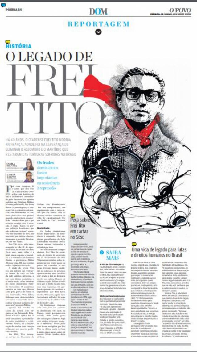 Especial do O POVO sobre os 40 anos sem Frei Tito