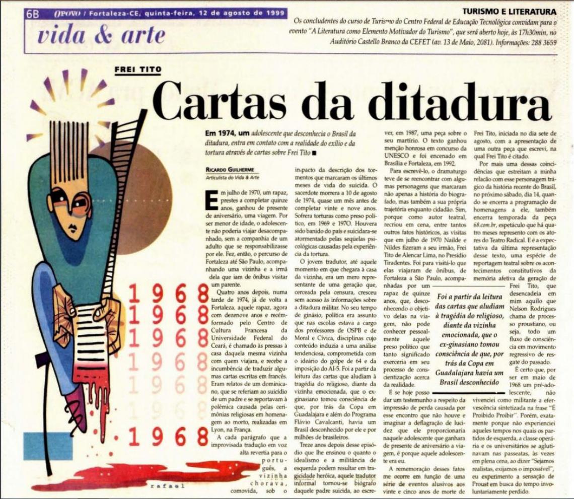 Texto de Ricardo Guilherme, no O POVO, em 1999