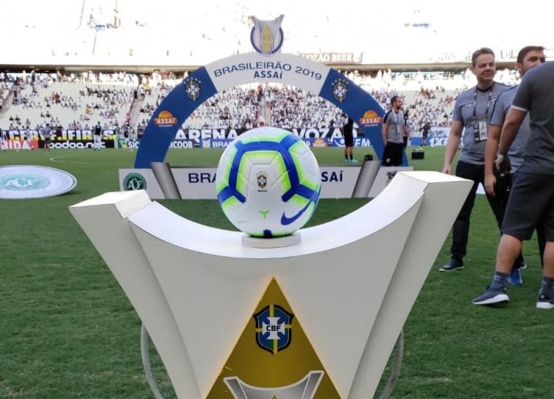Bola e portal da Série A do Campeonato Brasileiro