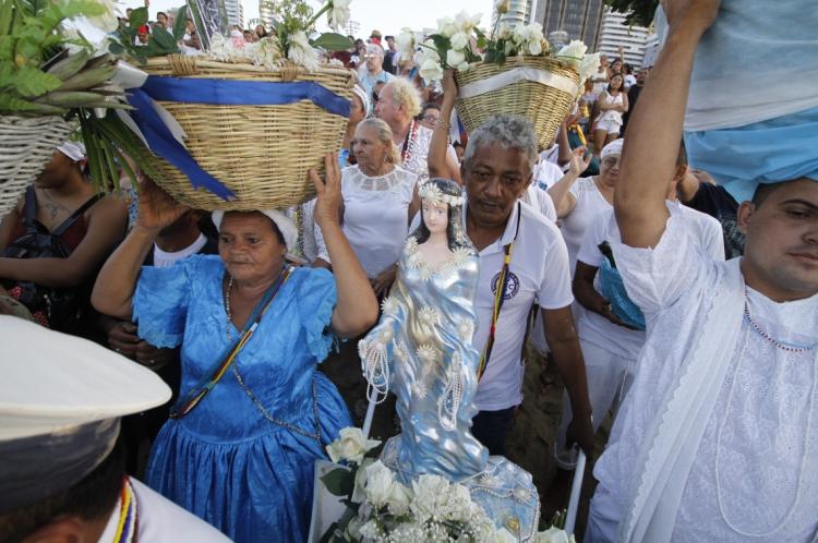 A Festa de Iemanjá é celebrada em Fortaleza desde 1950. Em 2017, o festejo foi registrado como patrimônio imaterial do Município.
