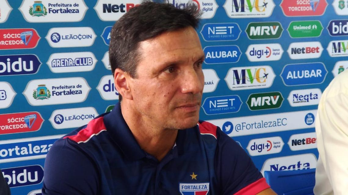 Treinador foi apresentado à imprensa no CT Ribamar Bezerra