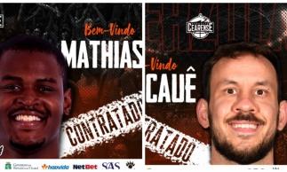 Mathias e Cauê: os novos contratados do Carcará.