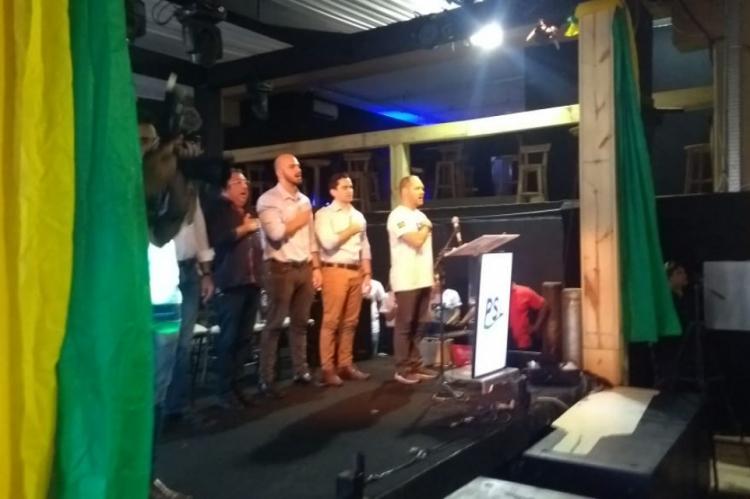 Heitor Freire conduz evento de filiação do PSL