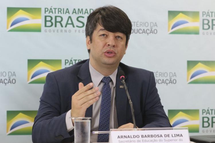 Lima Junior era um dos principais auxiliares do ministro da educação, Abraham Weintraub. (Foto: Valter Campanato/Agência Brasil)