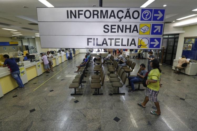 FORTALEZA, CE, BRASIL,  31-07-2019: Imagens da agência dos Correios do Centro. (Foto: Alex Gomes/O Povo) (Foto: Alex Gomes/ Especial para O POVO)