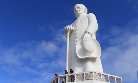 JUAZEIRO DO NORTE, CE, BRASIL, 28.07.2019: Estatua de Padre Cicero. Geositio do Horto.  (Fotos: Fabio Lima/O POVO)