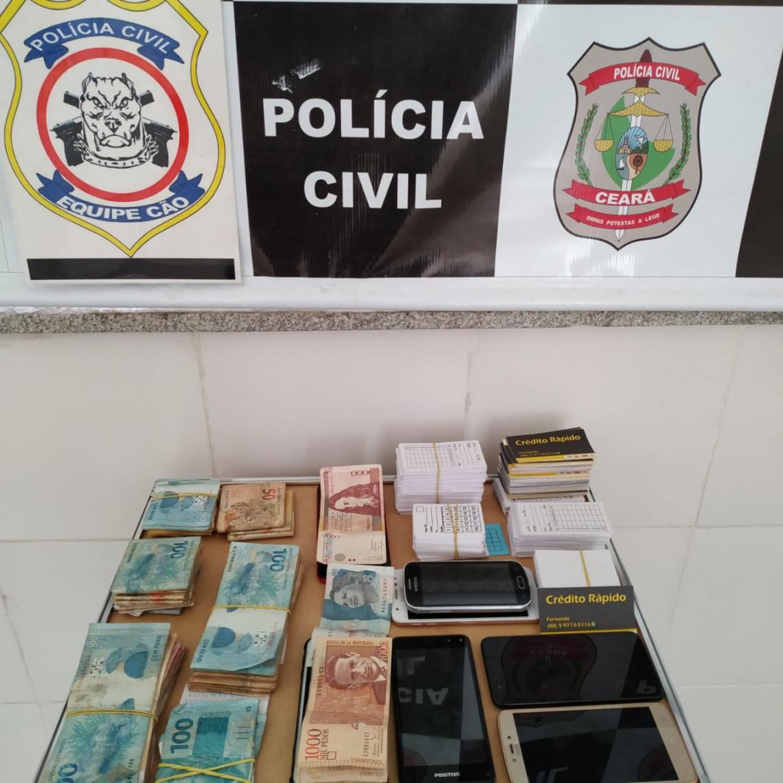 Polícia apreendeu R$11 mil; além de 17 mil pesos colombianos