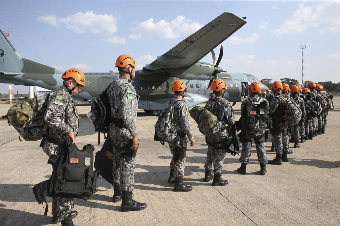 Equipes da Força Nacional, que ajudarão na segurança no Ceará estão a caminho