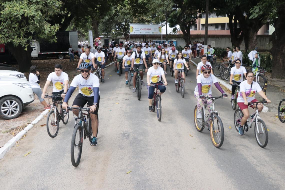 O passeio ciclístico ocorreu na manhã deste domingo, 25