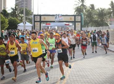 Atletas disputam meia maratona 21k Terra da Luz, realizada em 2019 na capital cearense