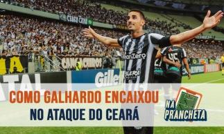 O encaixe de Thiago Galhardo no ataque do Ceará | NA PRANCHETA #65