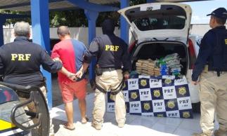 O motorista disse que foi contratado para transportar a droga até a capital cearense