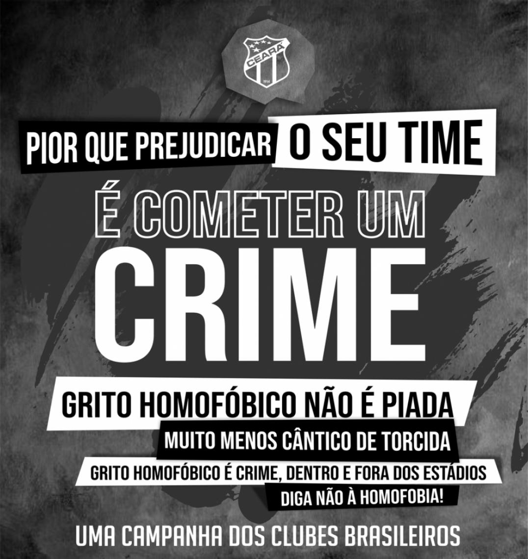 Ceará também se posiciona contra a homofobia no futebol.