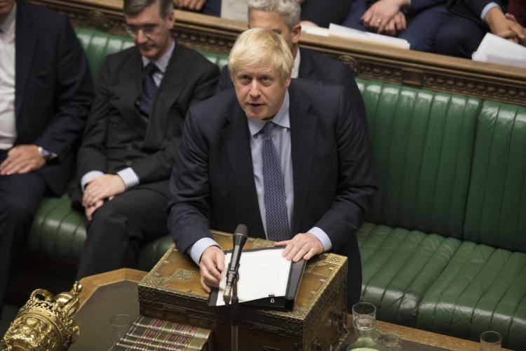 O premiê Boris Johnson (Foto: AFP / JESSICA TAYLOR / UK Parliament)