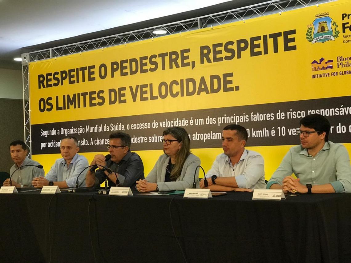 Campanha destaca respeito aos pedestres e aos limites de velocidade