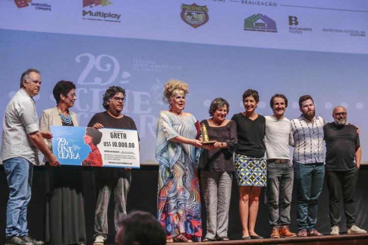 FORTALEZA, CE, BRASIL, 06-09-2019: Premiação e encerramento do Cine Ceará no Cine Teatro São Luiz. (Foto: Júlio Caesar/O POVO) (Foto: JÚLIO CAESAR)