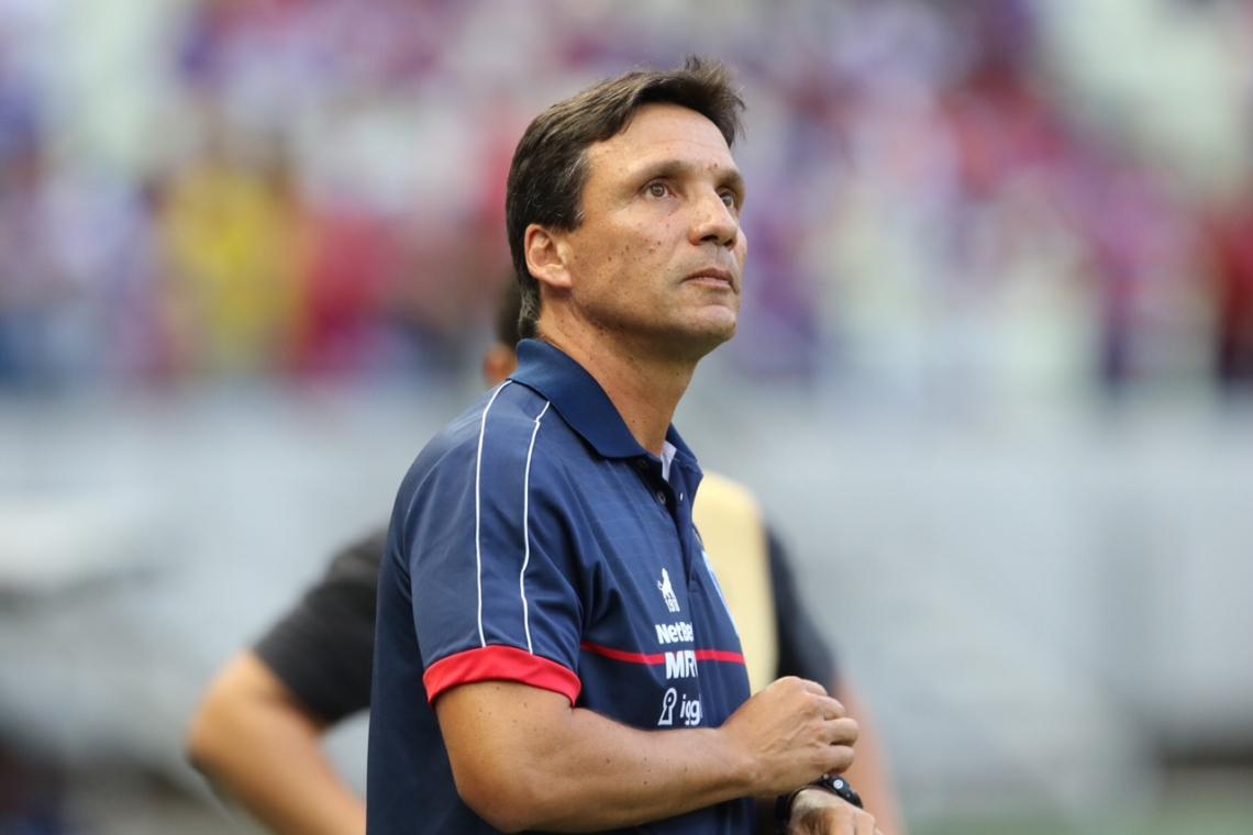 Zé Ricardo foi desligado do comando técnico do Fortaleza.
