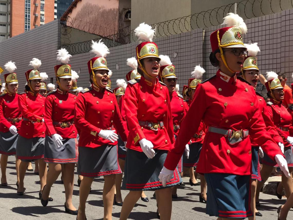 Desfile em Fortaleza pelo dia da Independência do Brasil