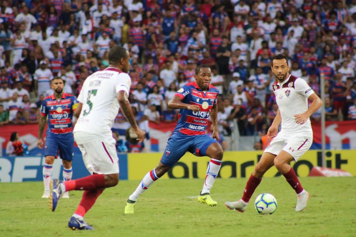 Fortaleza recebeu o Fluminense na Arena Castelão, pela 18ª rodada do Brasileirão