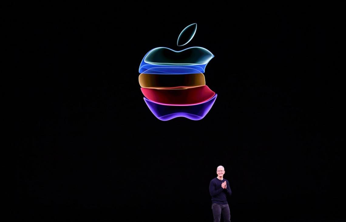 CEO da Apple, Tim Cook, durante o lançamento anual da empresa, em Cupertino, California