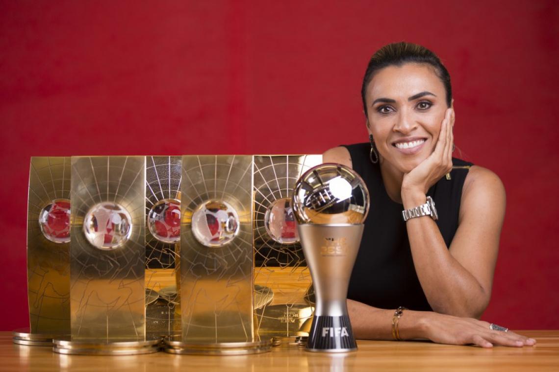 Marta é alagoana e foi eleita seis vezes melhor jogadora do mundo