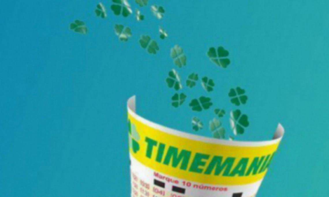 O sorteio da Timemania Concurso 1381 ocorre hoje, quinta, 12 de setembro (12/09)