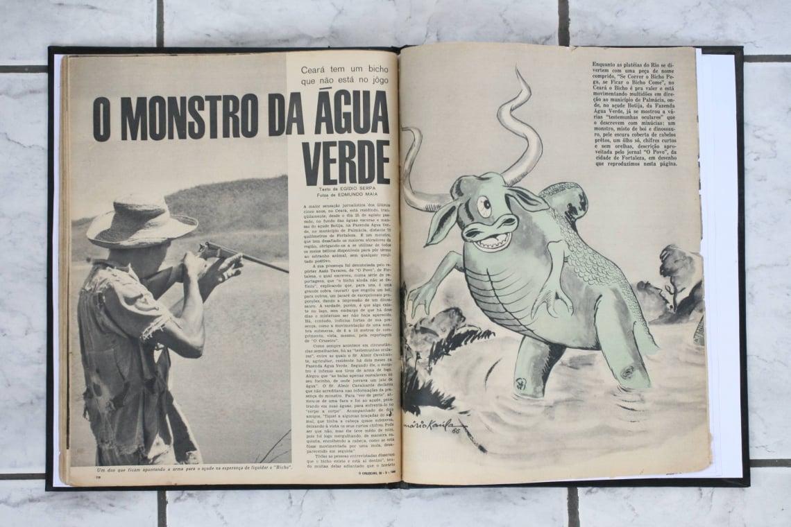 Matéria sobre o Monstro da Água Verde publicado na revista Cruzeiro.  Em 25/11/2006