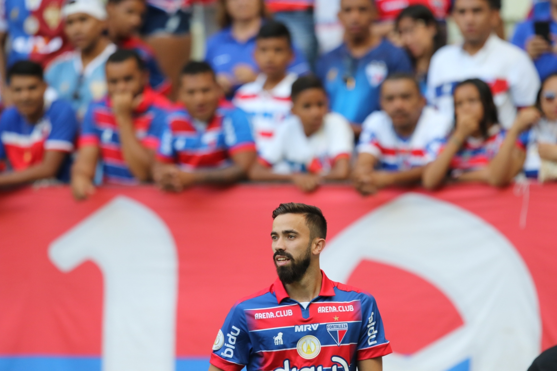 Matheus Vargas foi apresentado como nova contratação do Fortaleza durante Jogo Fortaleza vs Fluminense