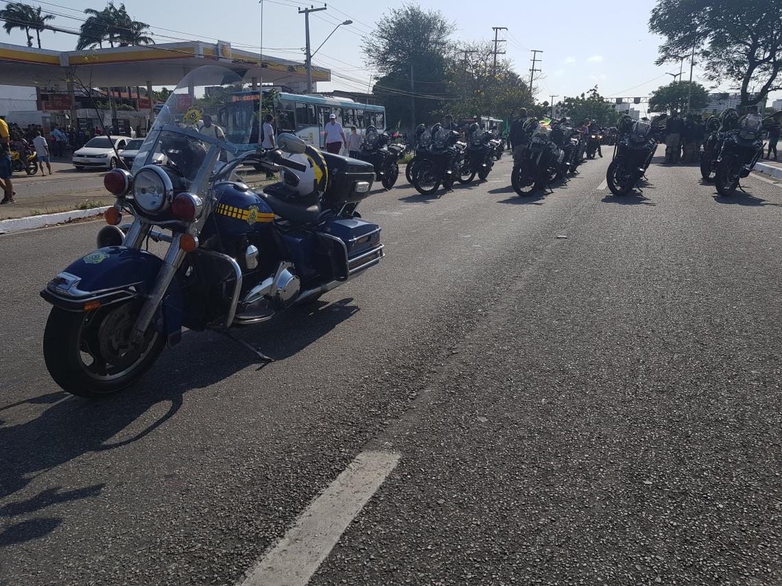 Operação fiscaliza a moto romaria anual de devotos de São Francisco das Chagas de Fortaleza a Canindé