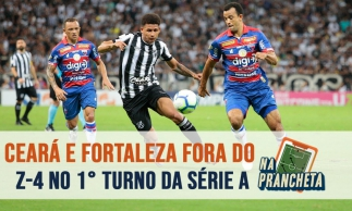 Ceará e Fortaleza fecham 1° turno fora do Z-4  da série A   NA PRANCHETA #69