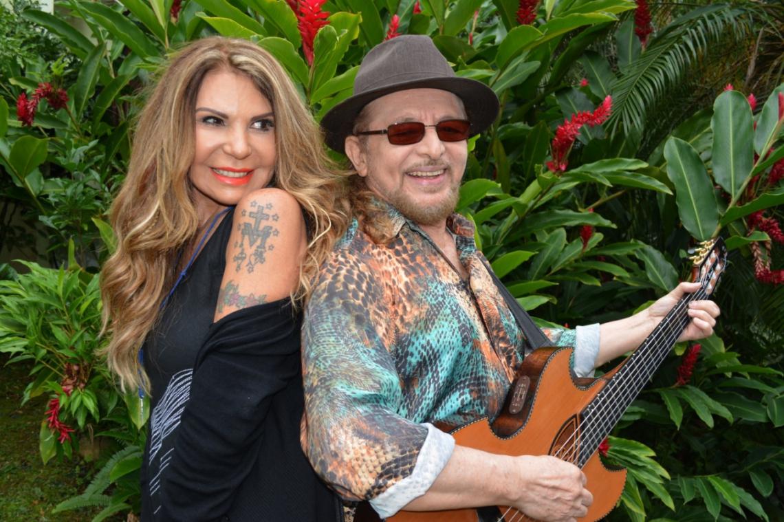 Elba Ramalho e Geraldo Azevedo fazem show juntos em Fortaleza