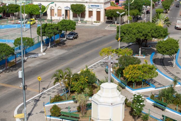 Baturité, na região Norte, é uma das cinco cidades cearenses que estão em regime de isolamento social rígido (Foto: Júlio Caesar)