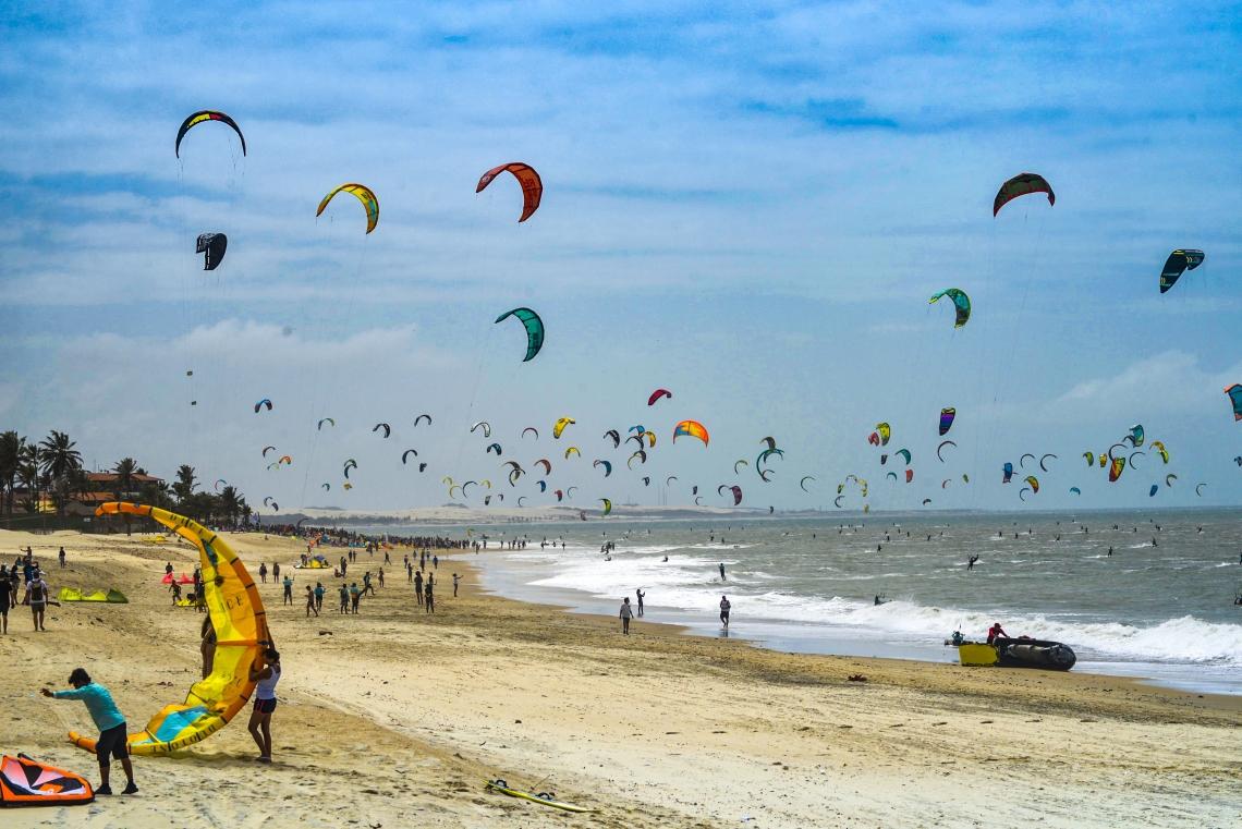Recorde de kitesurf no Cumbuco