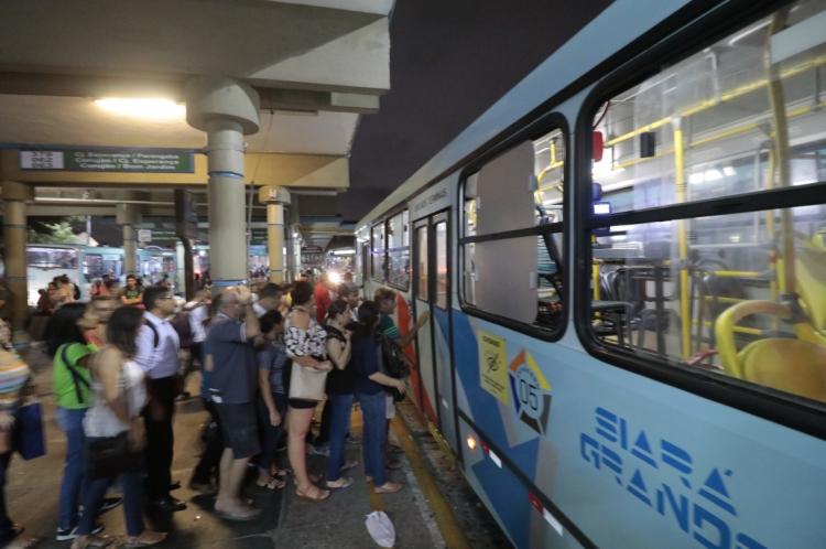 Terminal de ônibus da Parangaba em setembro de 2019.