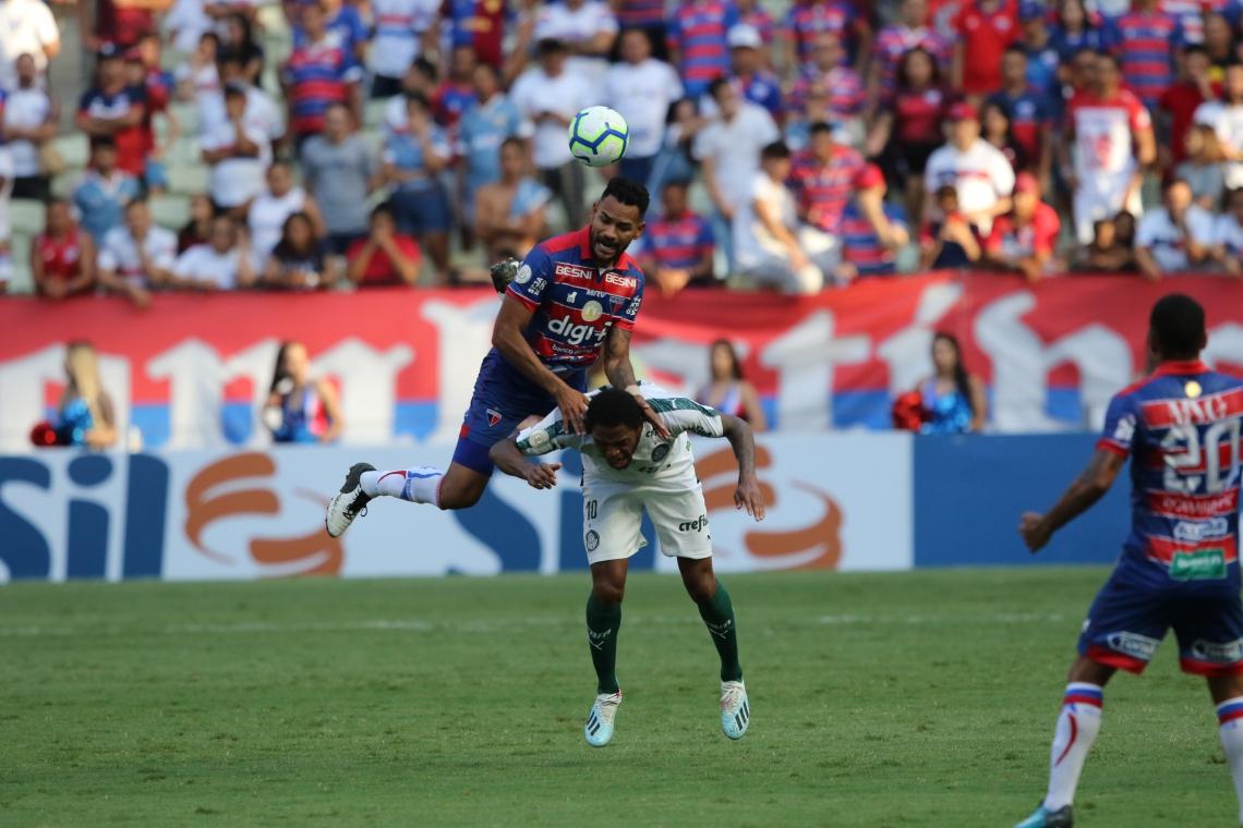 Fortaleza foi derrotado por 1 a 0 para o Palmeiras, no último domingo.