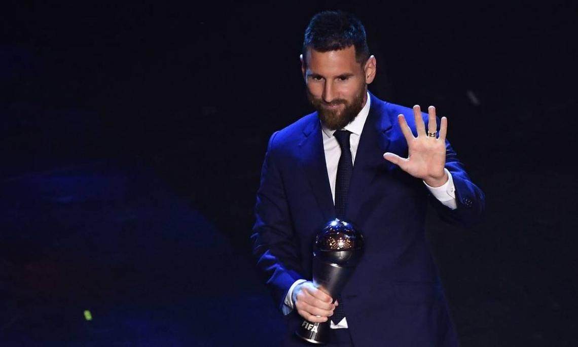Lionel Messi é o maior vencedor da premiação de melhor jogador do mundo.