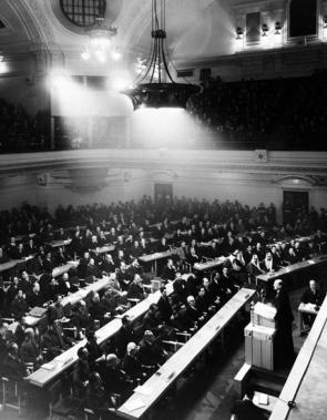 A primeira sessão da Assembleia Geral, em 10 de janeiro de 1946