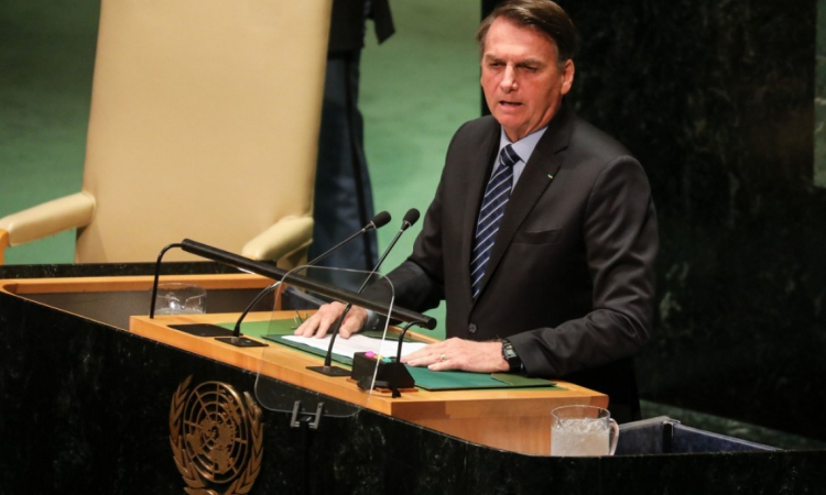 Bolsonaro discursou durante a abertura da assembleia, em Nova York