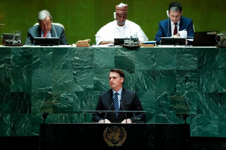 O presidente Jair Bolsonaro foi o oitavo mandatário brasileiro a discursar na abertura da Assembleia