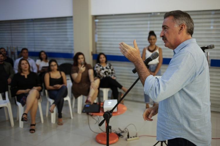 FORTALEZA, CE, BRASIL, 24-09-2019: Arthur Bruno, Secretario do Meio Ambiente. Evento Realizado no Espaco O POVO, no JORNAL O POVO, abertura da Virada Sustentavel. (Foto: Aurelio Alves/O POVO).