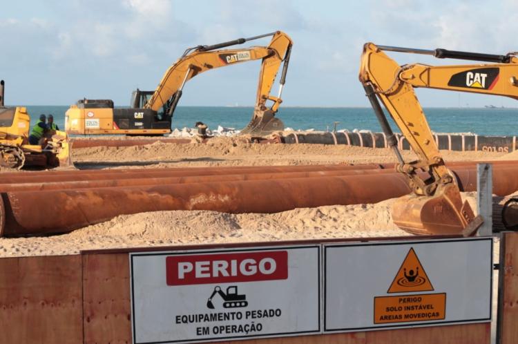 Aumento da faixa de areia deve ser de 80 metros mar adentro em extensão de 1,2 mil metros