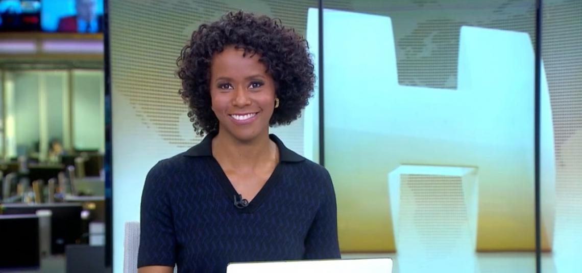 Maju Coutinho vai apresentar Jornal Hoje em pé para ficar mais próxima do público.