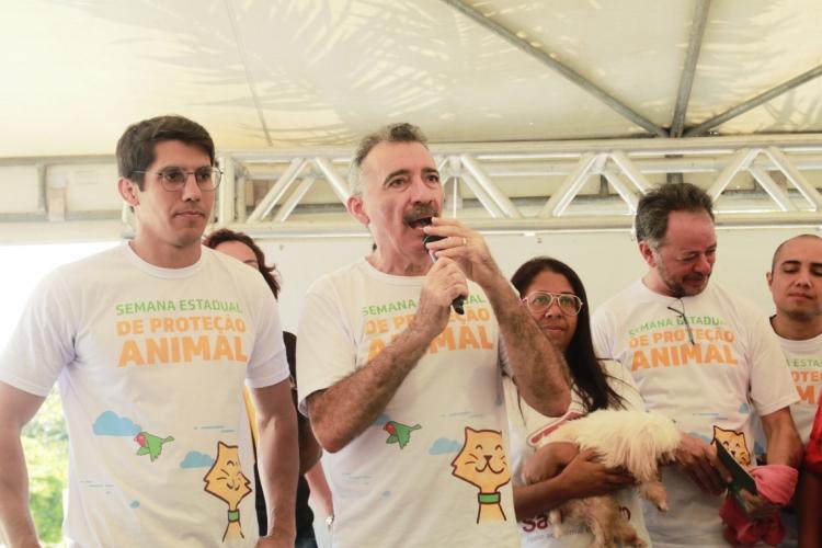 FORTALEZA, CE, BRASIL, 29-09-2019: Artur Bruno, secretário de Meio ambiente. Lançamento da semana de proteção animal no Parque do Cocó.  (Foto: Júlio Caesar/O POVO) (Foto: JÚLIO CAESAR)
