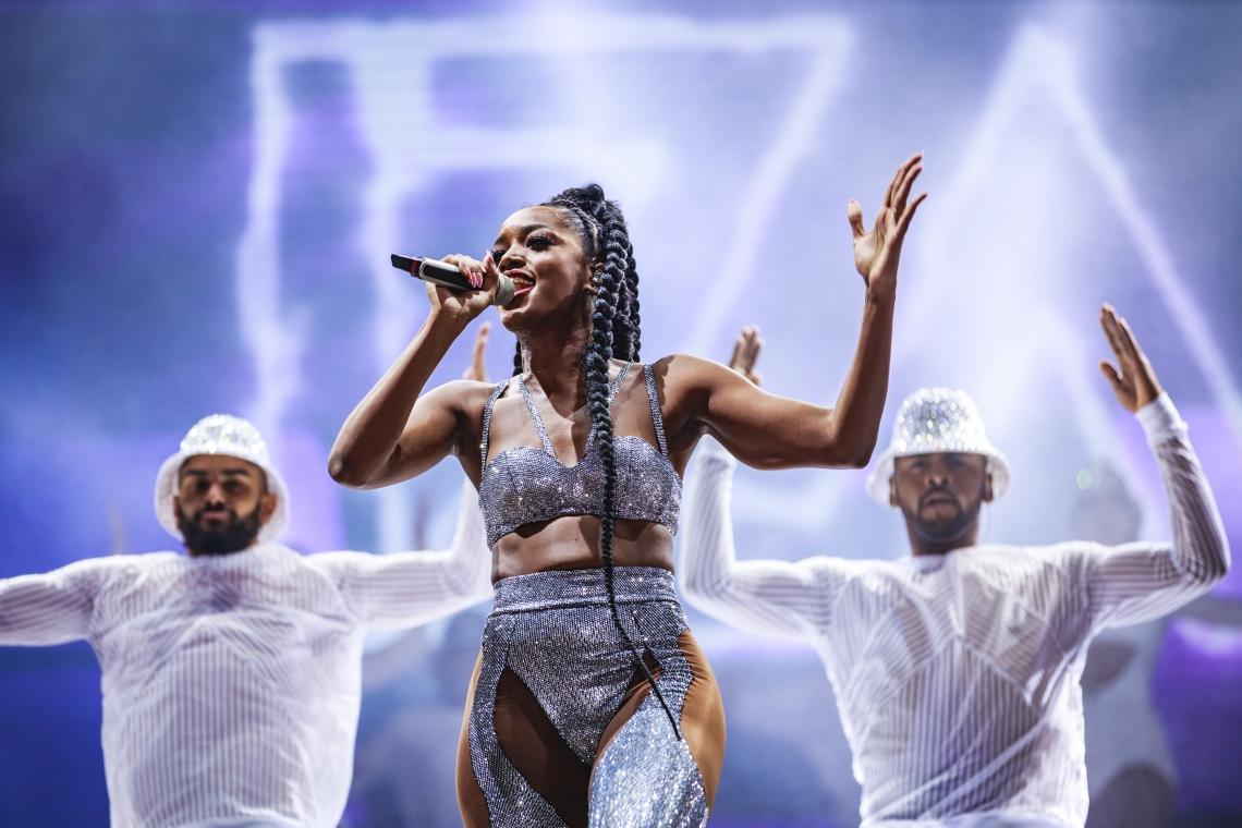 Iza divertiu o público na terceira noite de Rock in Rio