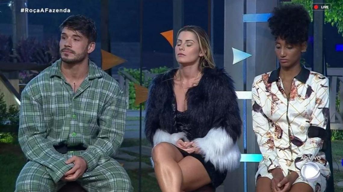 Aricia Silva, Lucas Viana e Sabrina Paiva formam a segunda roça de A Fazenda 11.