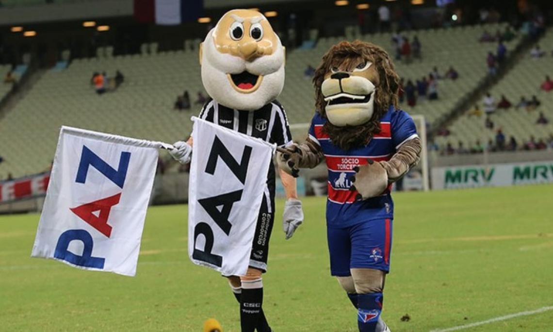 Mascotes de Ceará e Fortaleza. Os dois clubes fizeram campanhas idênticas no primeiro turno do Brasileirão