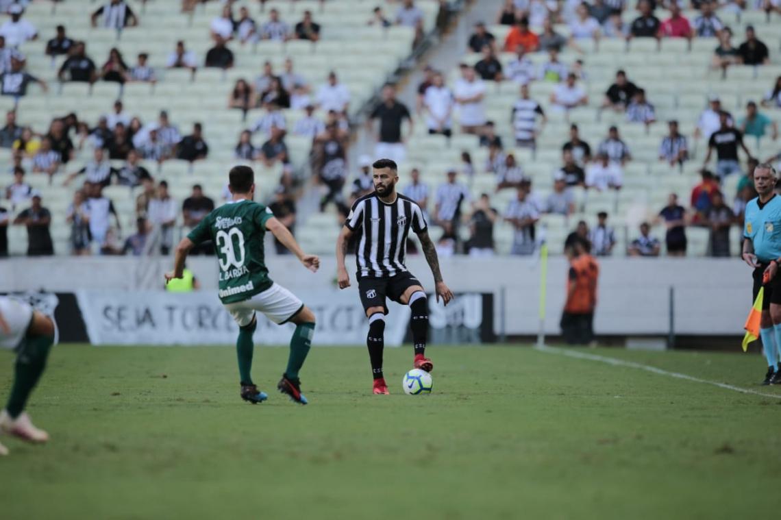 Ceará começou o jogo com bastante posse de bola.