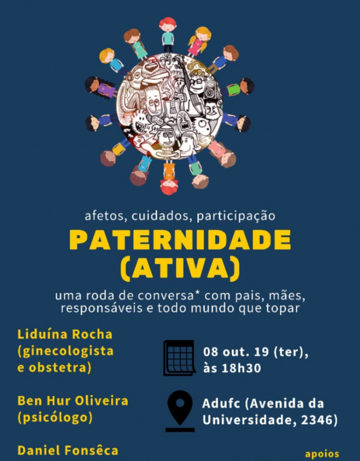 Roda de conversa discute a importância do papel da paternidade nesta terça-feira, 8, em Fortaleza.
