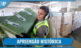 APREENSÃO RECORDE DE PRODUTOS PIRATAS NO AEROPORTO DE FORTALEZA
